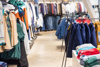 Clothes section interior