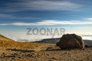 Lavakugeln, Teide-Eier, Huevos del Teide, Montana Blanca, Picio del Teide, 3718m, Parque Nacional de las Cañadas del Teide, Teide-Nationalpark, UNESCO Weltnaturerbe, Teneriffa, Kanarische Inseln, Spanien, Europa