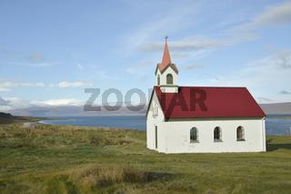 Kirche, Vatnsfjordhur, Westfjorde, Island