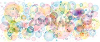Air bubbles in pastel colors