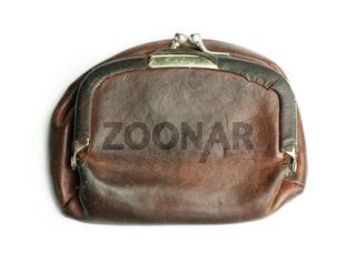Old ladies leather purse
