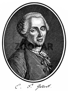 Christian Fuerchtegott Gellert, 1715 - 1769, German poet