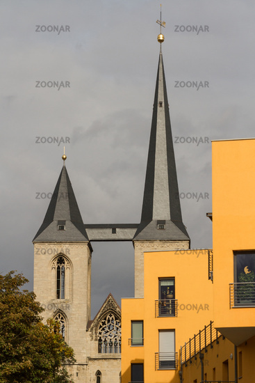 View to the Halberstadt Cathedral