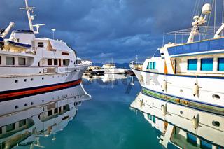 Saint Tropez, French riviera. Yachting harbor of Saint Tropez at Cote d Azur colorful view