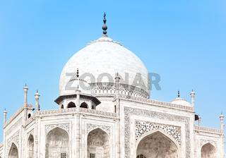 Taj Mahal in India, detail