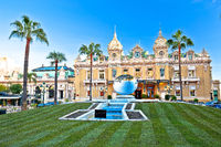 Casino de Monte-Carlo famous landmark colorful facade view.