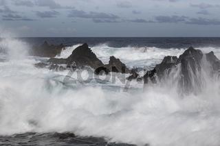 Küste, Porto Moniz, Madeira, Portugal, Atlantik, Europa