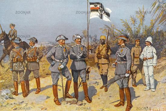 Imperial German colonial soldiers in East Africa