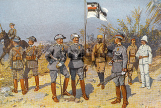 Imperial German colonial soldiers in East Africa