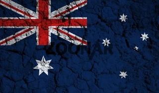 australia flag textured on background