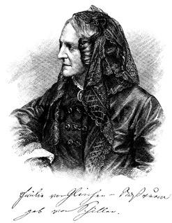 Emilie Friederike Henriette von Gleichen-Russwurm, 1804 - 1872, the youngest daughter of Johann Christoph Friedrich von Schiller,