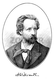 Adolf von Wilbrandt, 1837 - 1911, German writer and director of the Burgtheater in Vienna,
