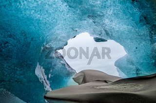 Crystal Ice Cave near Jokulsarlon