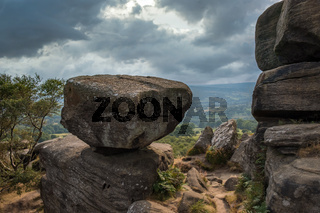 Scenic view of Brimham Rocks in Yorkshire Dales National Park