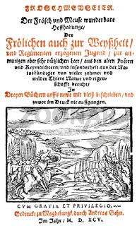 1595, Froschmeuseler by Georg Rollenhagen, 1542 - 1609, a German writer
