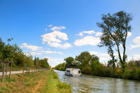 Landscape the French Canal-du-Midi