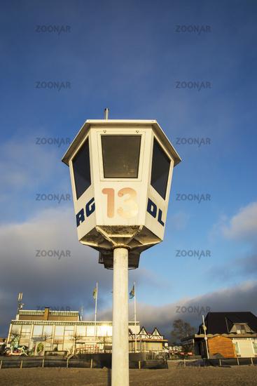 Watchtower of the DLRG in Dahme, Baltic Sea, Germa