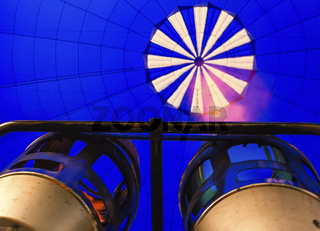 Burners inside the hot air balloon
