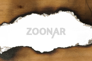 Burned wooden paper
