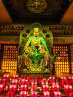 Statue in Temple 33 statues of guanyin in the Sanya Nanshan Cultural Center