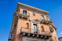 vicenza, italy - 03/19/2019 - old palazzo with balcony