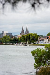Bayonne Cathedral and the Adour River, France