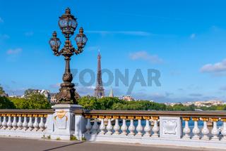 Lantern on the Alexandre III Paris Bridge