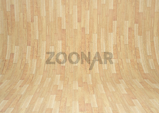 Curved wooden room