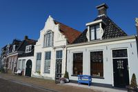 Gabled houses in Friesland. Netherlands