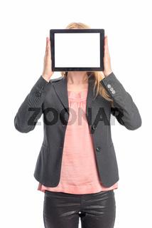 geschäftsfrau mit tablet pc