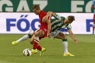 Ferencvaros vs. Dunaujvaros OTP Bank League football match