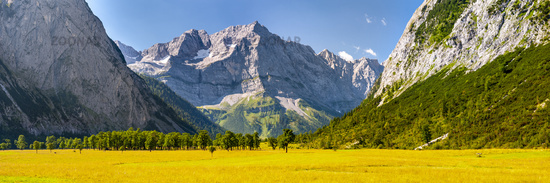 panoramic landscape at Karwendel mountains