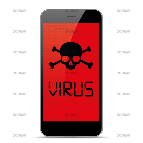 Smartphone Virus Skull