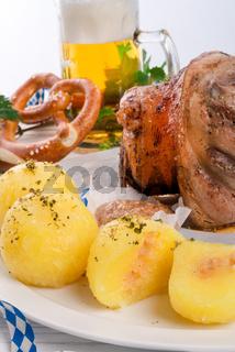 Schweinshaxe - pork knuckle on Bavarian
