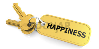 Happiness keys isolated with white background