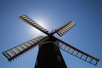 Historic Danish Windmill Silhouette