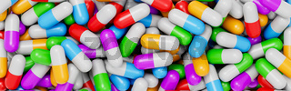 Wall of Colorful Pills