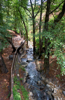 The walking path along the river Clarios in the Kakopetria village. Nicosia District. Cyprus