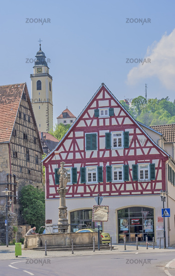 Corn house and square fountain, Horb am Neckar