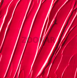 Red cosmetic texture background, make-up and skincare cosmetics product, cream, lipstick, moisturizer macro as luxury beauty brand, holiday flatlay design