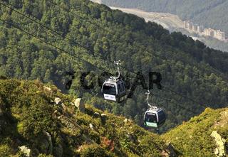 Gondola lift 'Rosa Khutor' in Krasnaya Polyana.