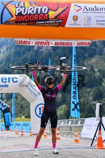 Els Cortals de Encamp, Andorra : Agust 6 2017 : Cyclists in La Purito 2017 in Andorra. Amateur race