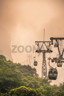 Cable car to the top of Huashan Mountain