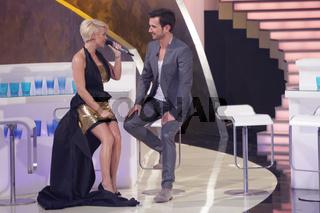 Michelle und Florian Silbereisen in der ARD TV Show 'Das große Fest zum Jubiläum' 22.3.14 Magdeburg