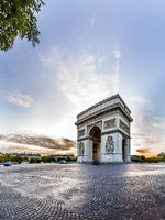 Paris Triumphal Arch the Arc de Triomphe de l'Etoile, France