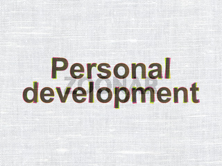 Education concept: Personal Development on fabric texture background