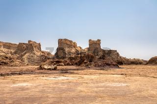 Rock city in Danakil depression, Ethiopia, Africa