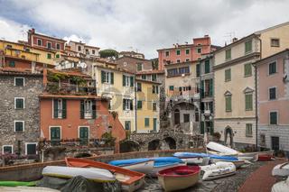 Tellaro, kleiner Bootshafen, Ligurien, Italien