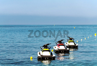 jet skis by the sea