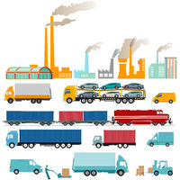 Industry, factories and freight, transportation